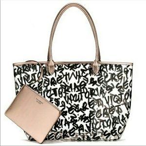NWOT Victoria Secret clear tote bag